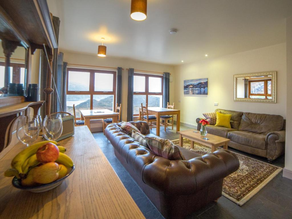 A seating area at Kirkaig Lodge