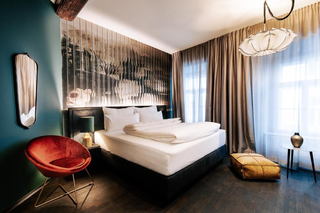 Ein Bett oder Betten in einem Zimmer der Unterkunft Aiola Living Graz