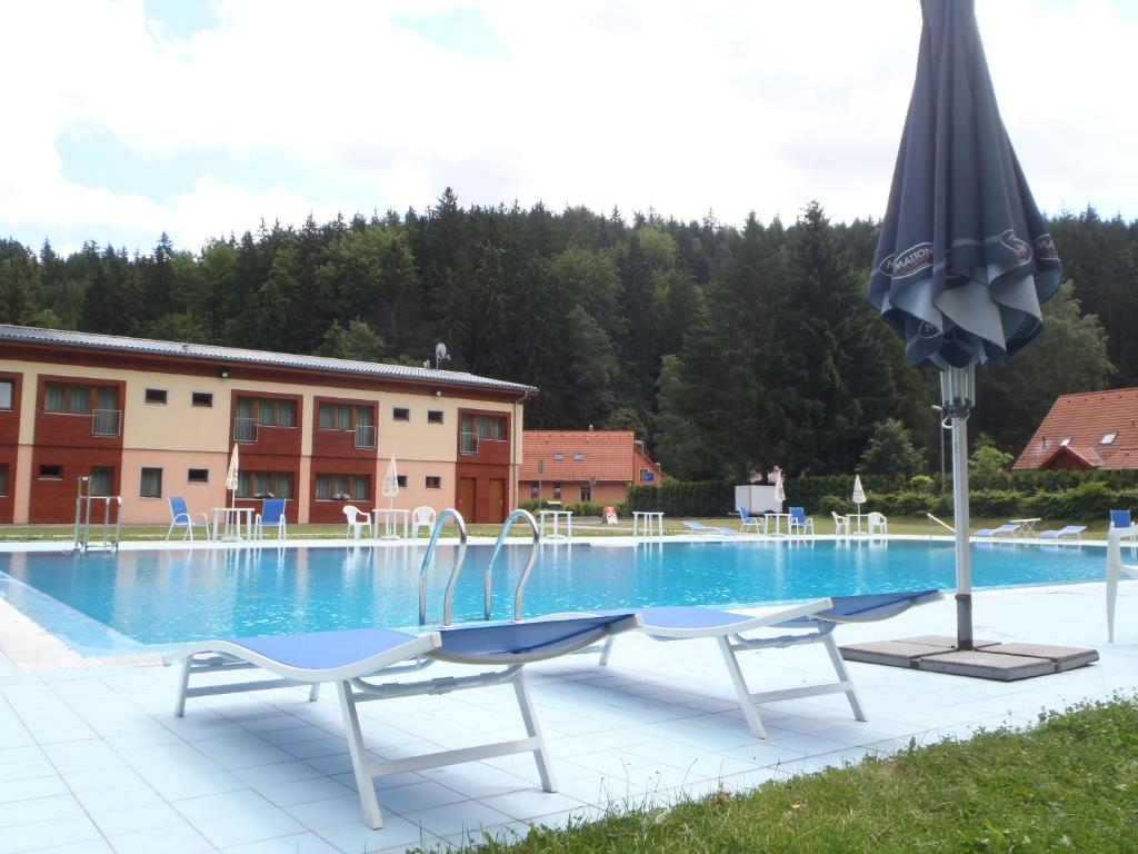 The swimming pool at or near Hotel Bazant