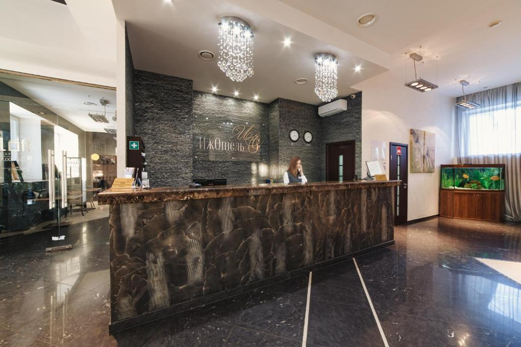 The lobby or reception area at IzhHotel