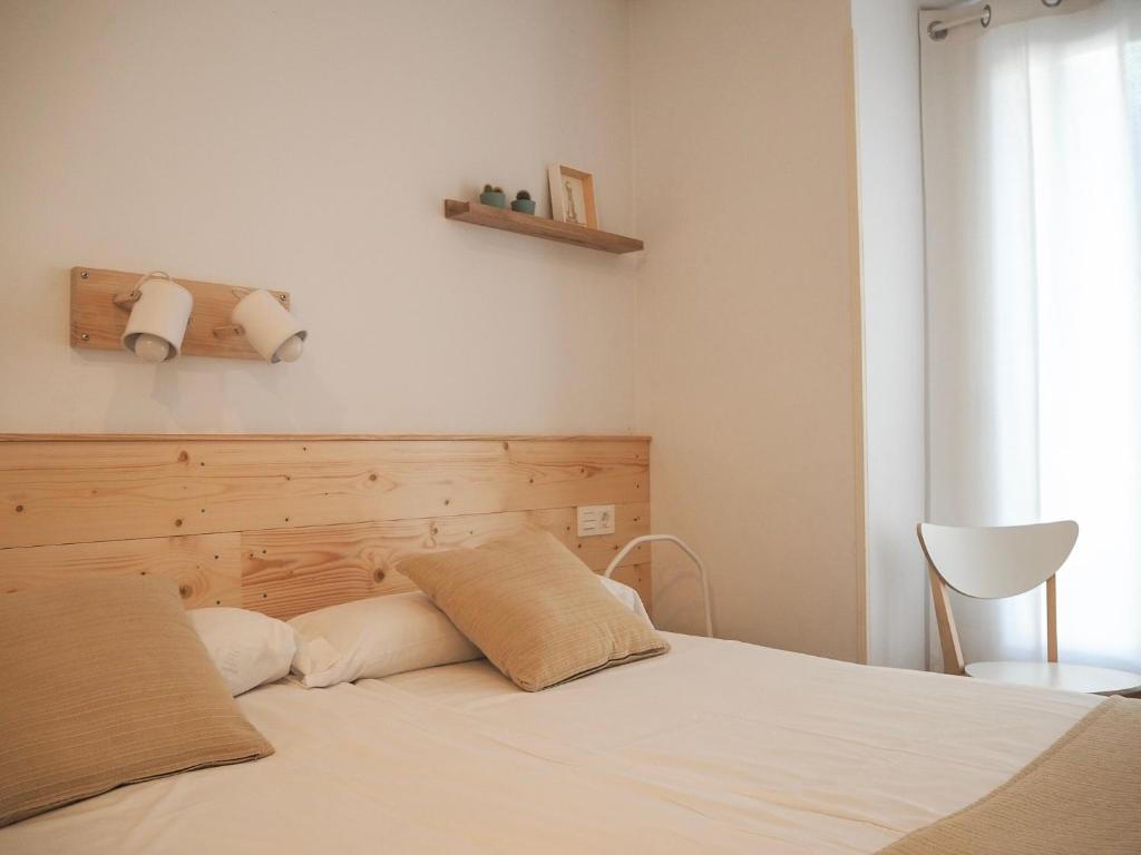 Cama o camas de una habitación en Pensión Urkia