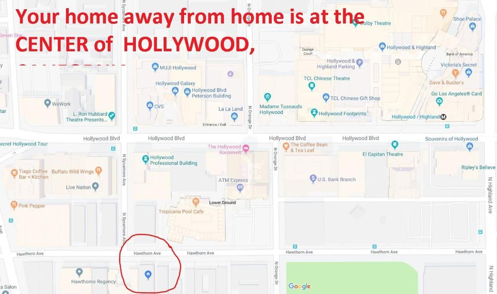 Map Of America Hollywood.Apartamentai Private Large Exotic Home Jav Los Andzelas Booking Com
