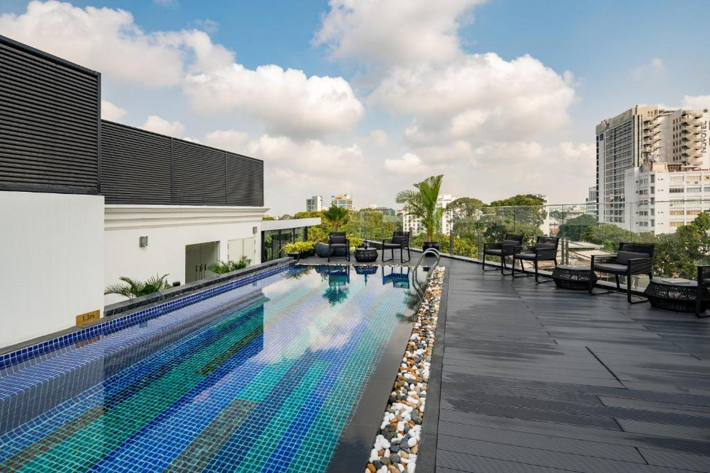 The swimming pool at or near Bach Suites Saigon
