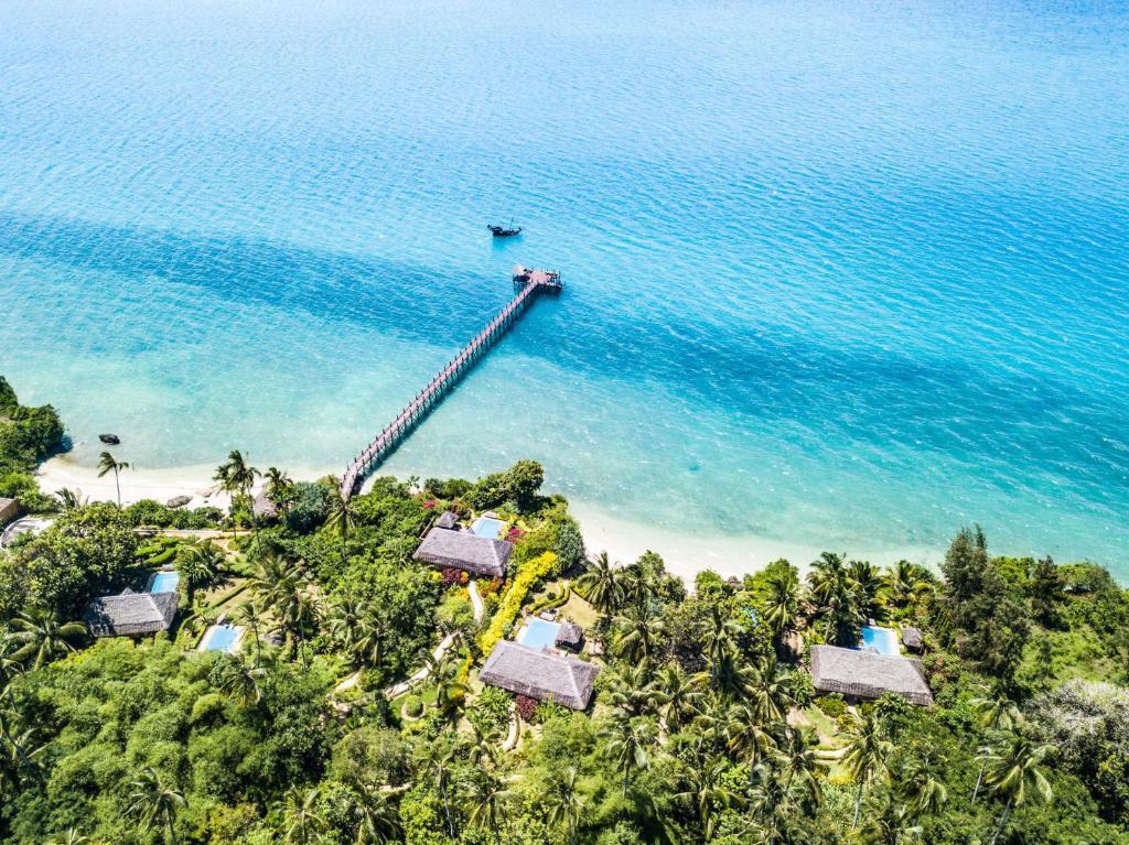 Widok z lotu ptaka na obiekt Zanzi Resort
