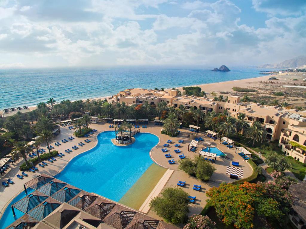 A view of the pool at Miramar Al Aqah Beach Resort or nearby