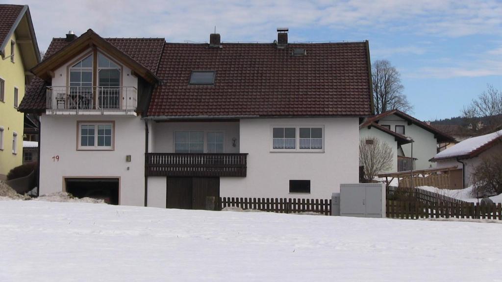 Hauptstraße 19 during the winter