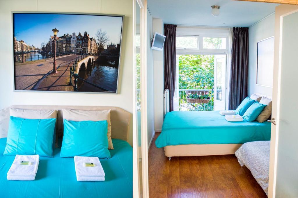 Een bed of bedden in een kamer bij At the park