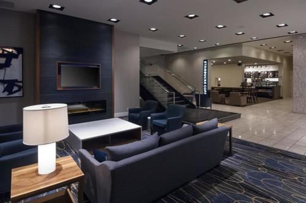 A seating area at Doubletree by Hilton London
