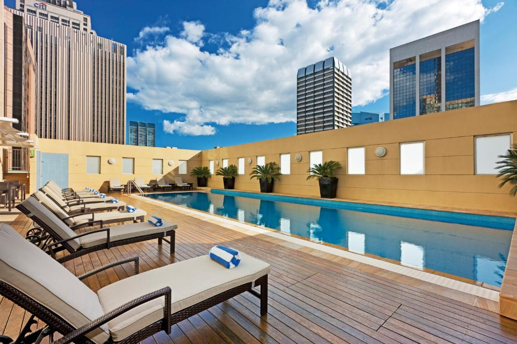 The swimming pool at or near Swissôtel Sydney