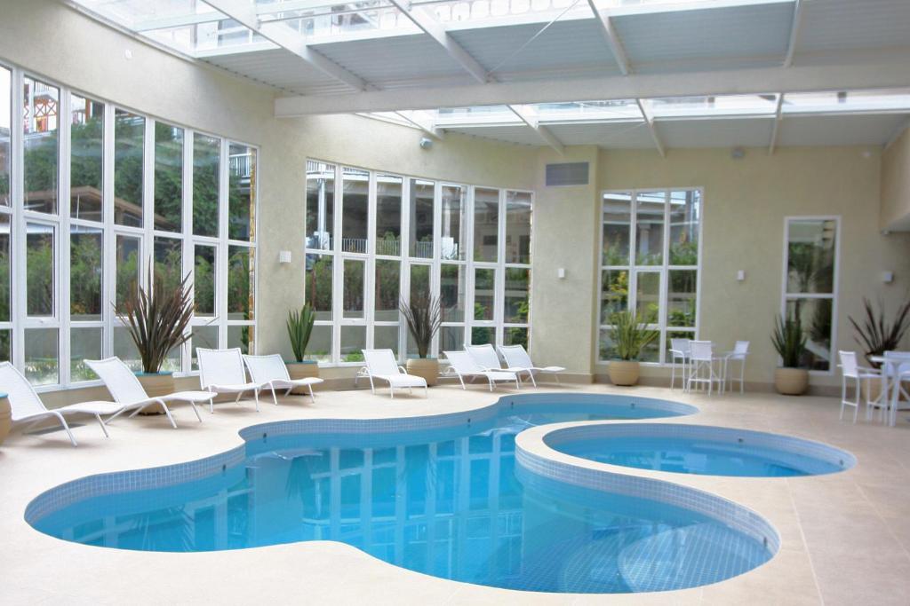 The swimming pool at or near Hotel Serra da Estrela