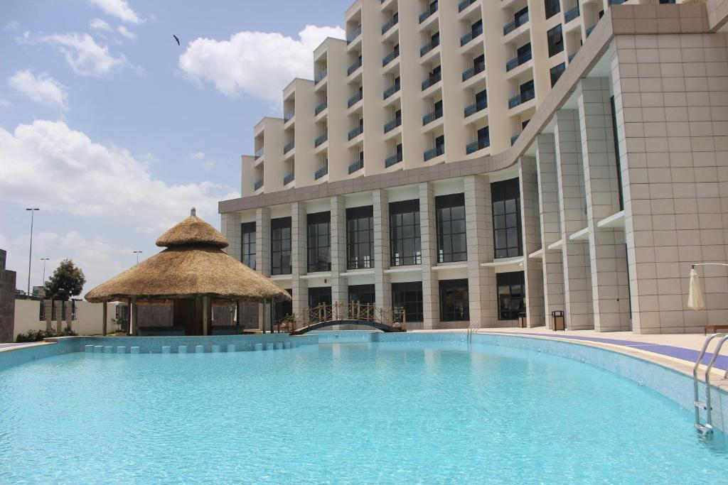 The swimming pool at or near Ethiopian Skylight Hotel