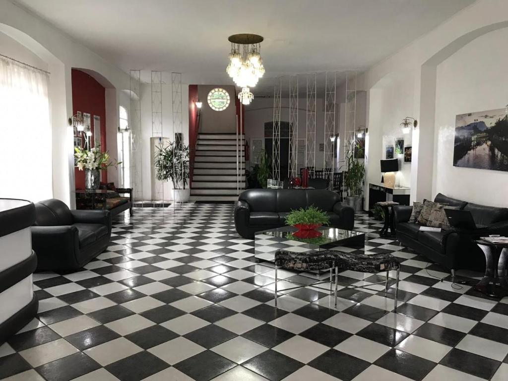 The lobby or reception area at Porto Real Hotel
