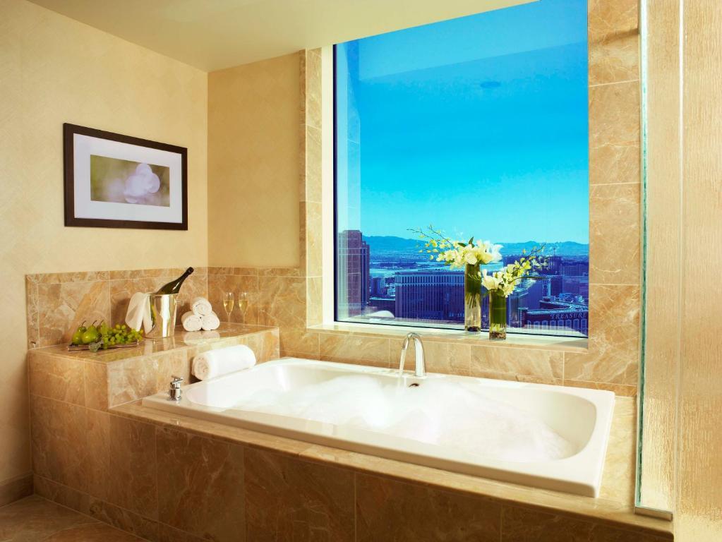 A bathroom at Trump International Hotel Las Vegas