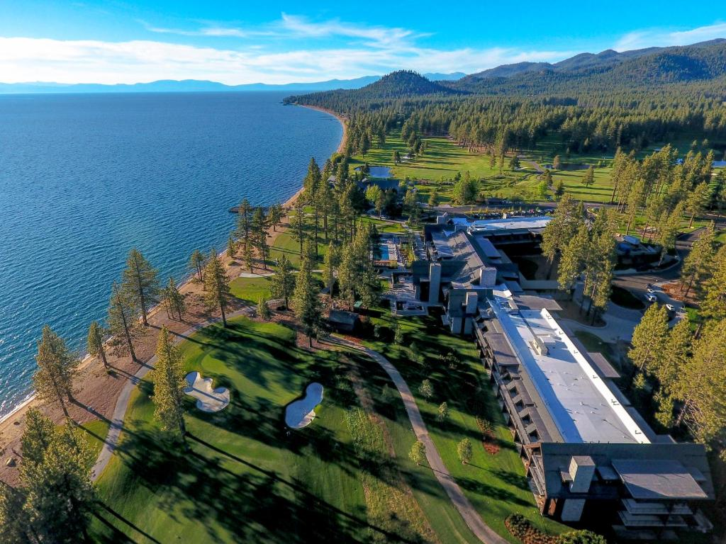 A bird's-eye view of The Lodge at Edgewood Tahoe