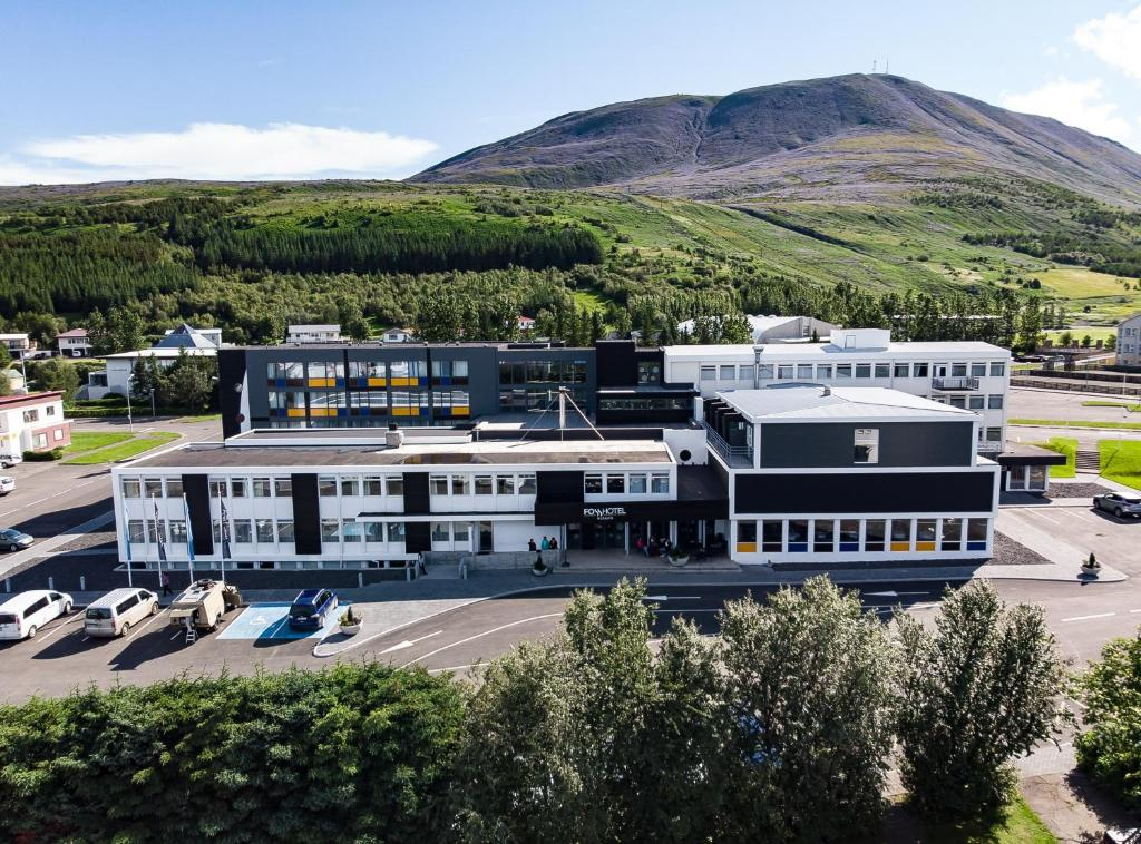 A bird's-eye view of Fosshotel Husavik
