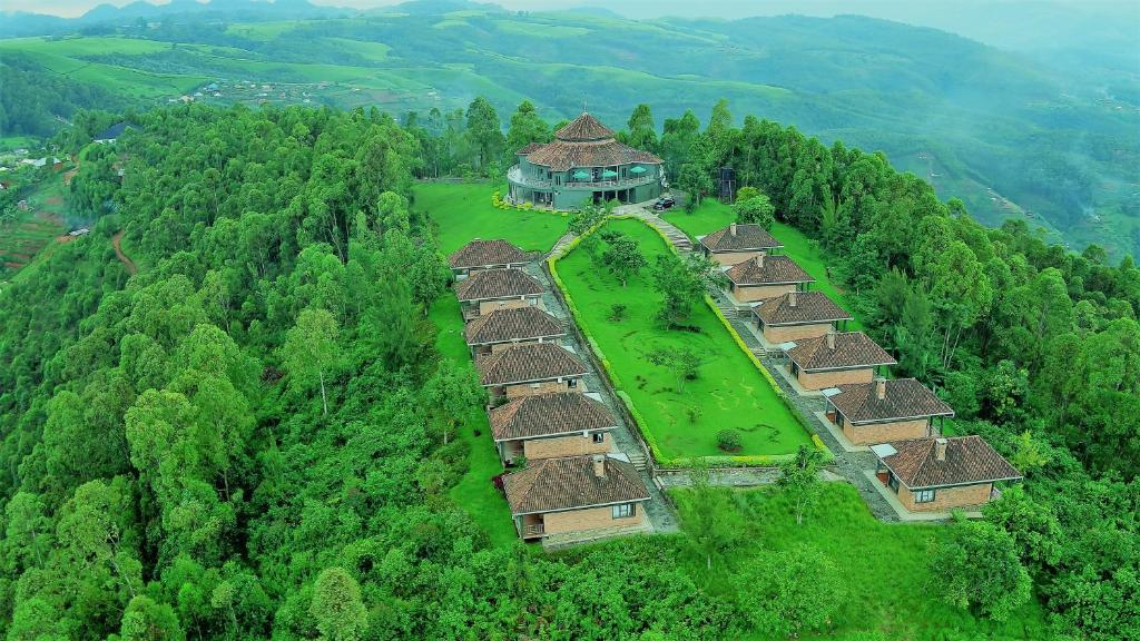 A bird's-eye view of Nyungwe Top View Hill Hotel