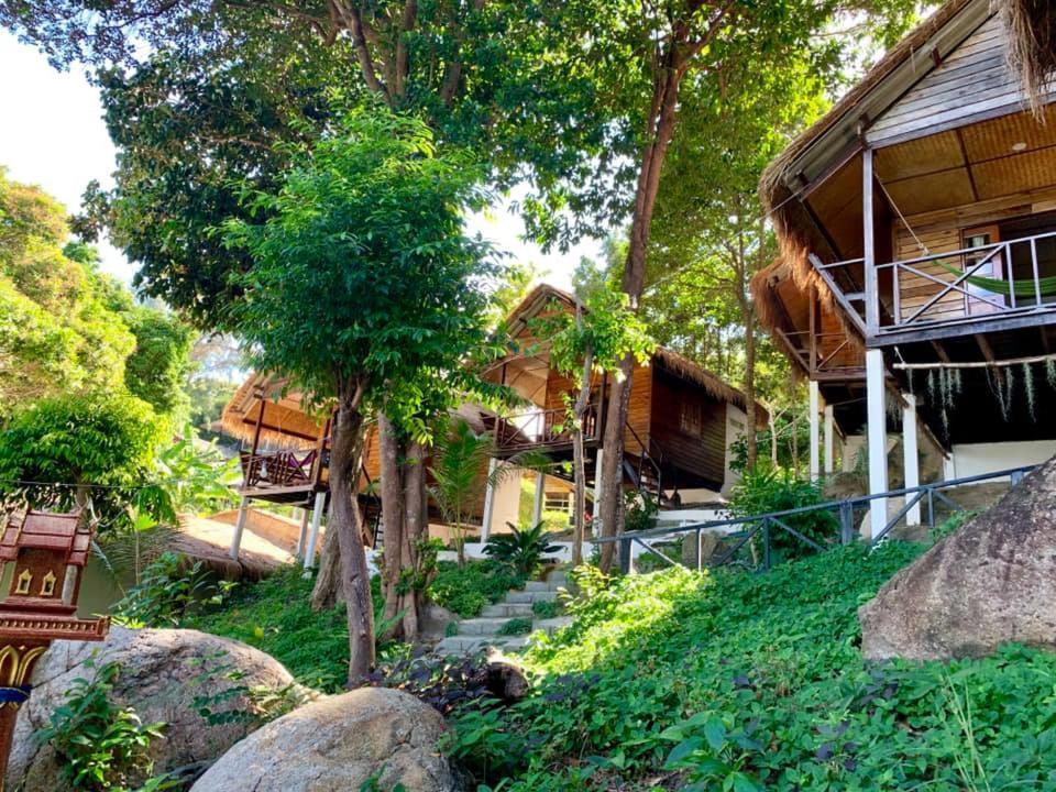 A garden outside Pitiusas Beach Resort