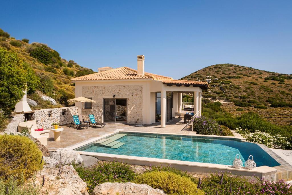 The swimming pool at or close to Villa Eros, Old Skala, Kefalonia