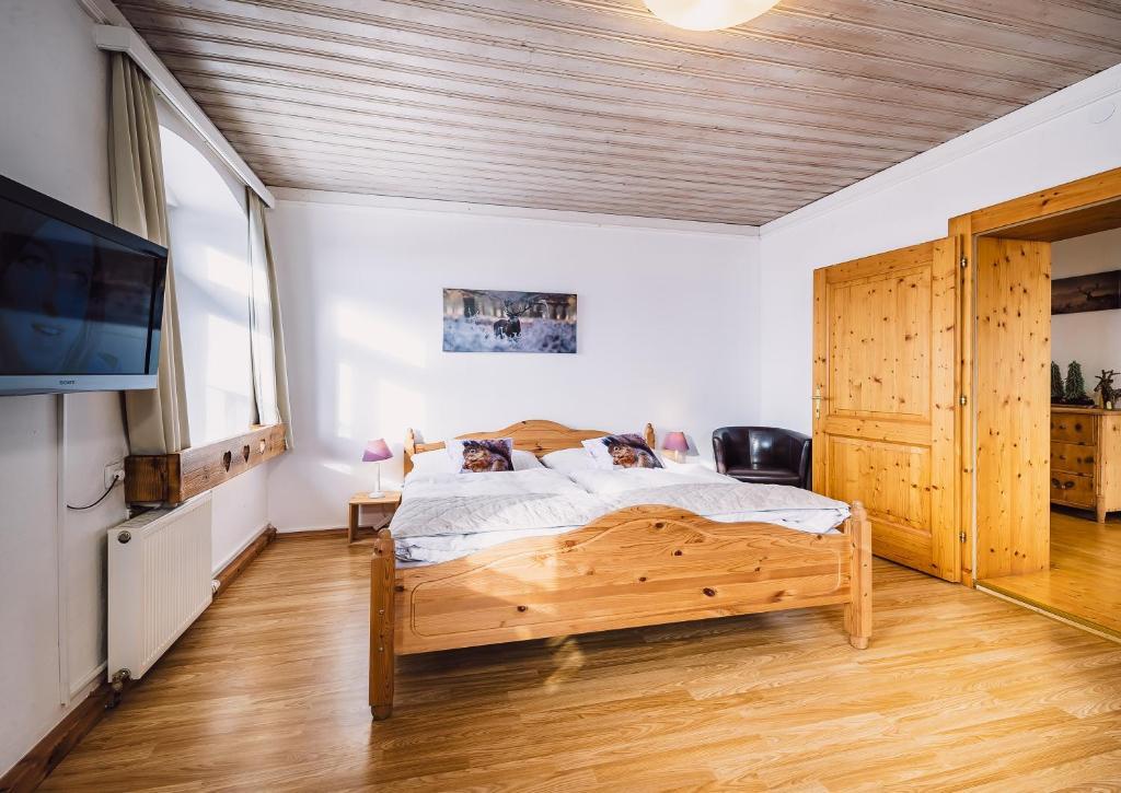 Ein Bett oder Betten in einem Zimmer der Unterkunft Landhaus Feischl