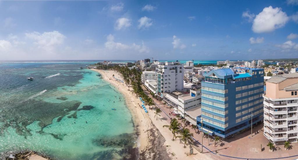 A bird's-eye view of Calypso Beach Hotel