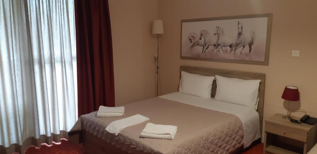 瓦西利斯酒店房間的床