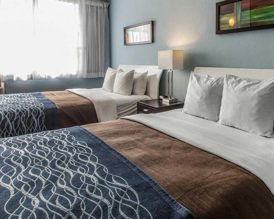 A bed or beds in a room at Comfort Inn & Suites Levittown