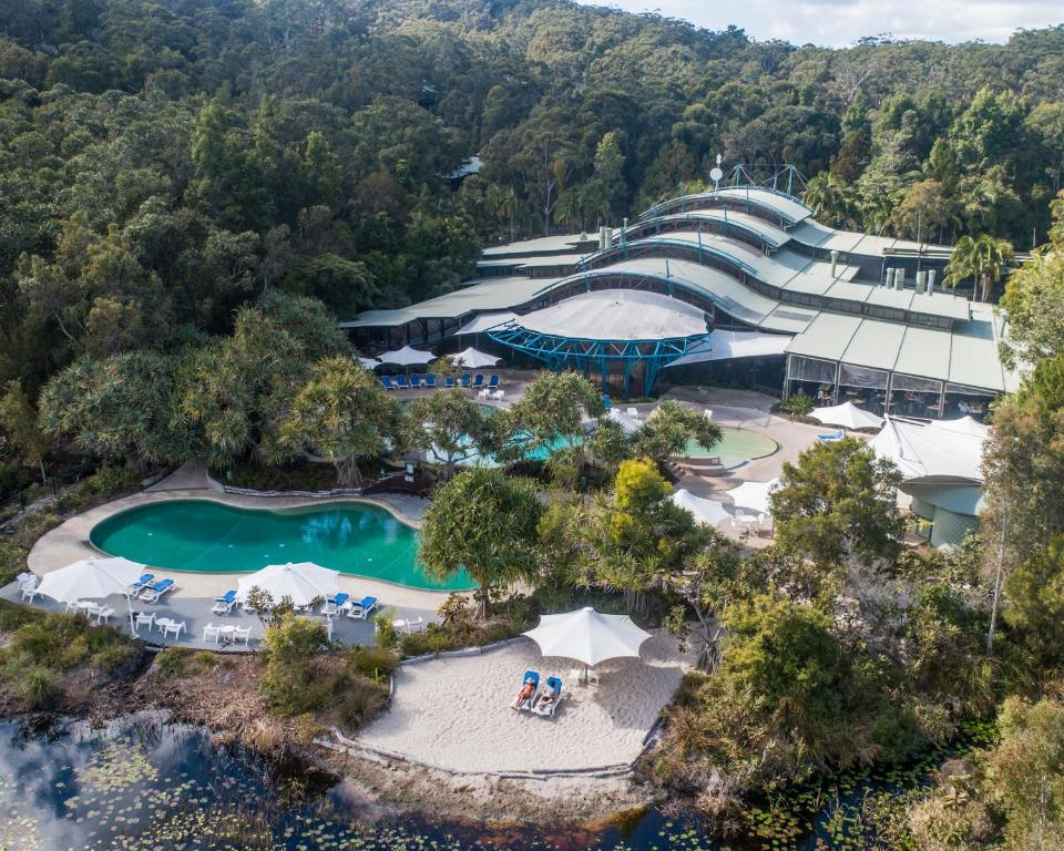 A bird's-eye view of Kingfisher Bay Resort