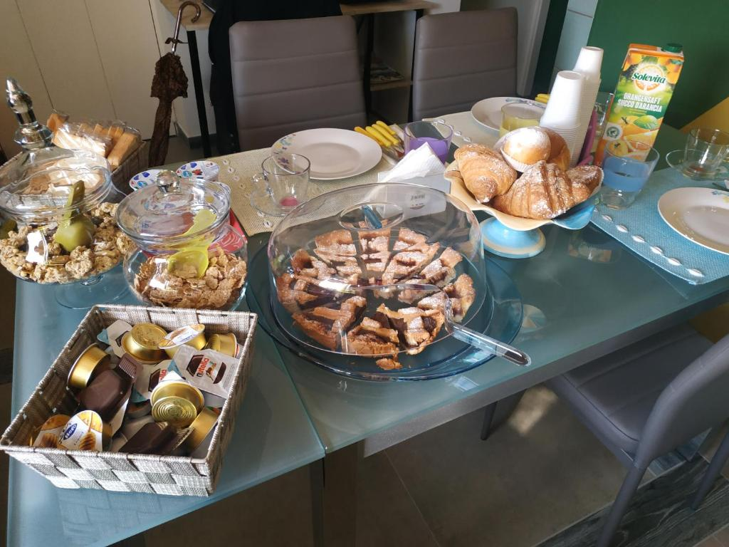 Možnosti snídaně pro hosty v ubytování Rosalina Bed & brekfast