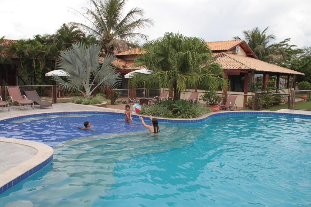 The swimming pool at or near Pousada Surucuá - Bonito MS