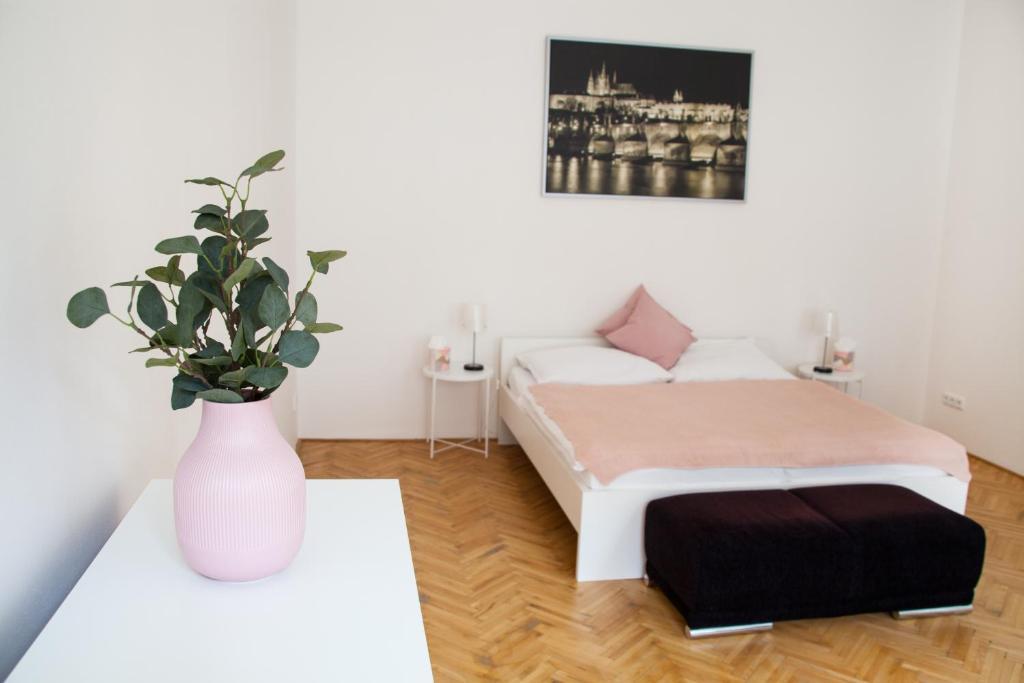 Katil atau katil-katil dalam bilik di Dlouhá 35