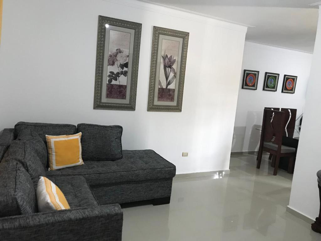 A Seating Area At Furnished Apartment In Cerro Alto Santiago