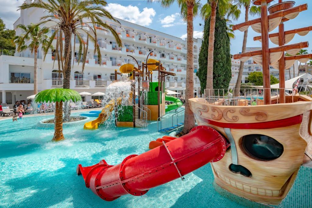 Parc aquàtic de l'hotel o a prop