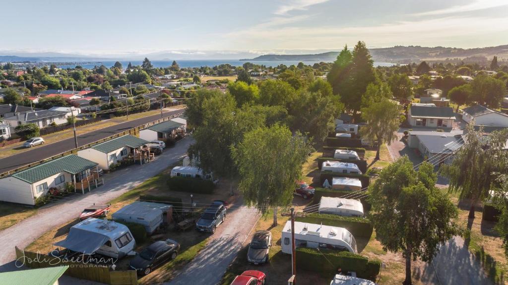 All Seasons Kiwi Holiday Park Taupo tesisinin kuş bakışı görünümü