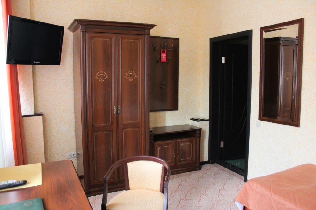 Телевизор и/или развлекательный центр в Гостиница Воронеж