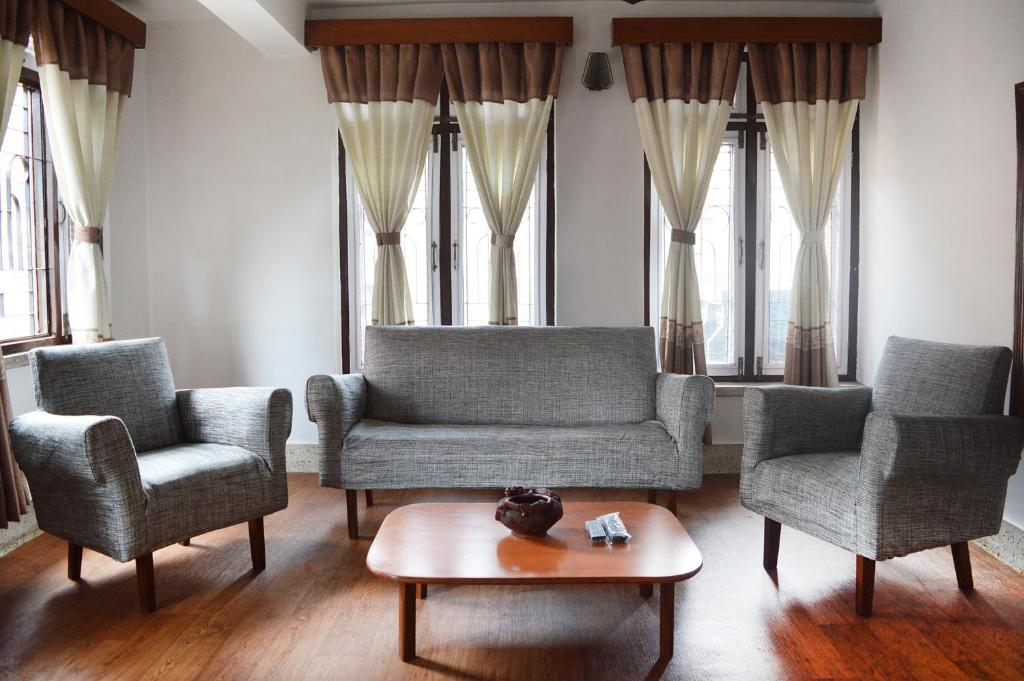 A seating area at Apartment in Nepal