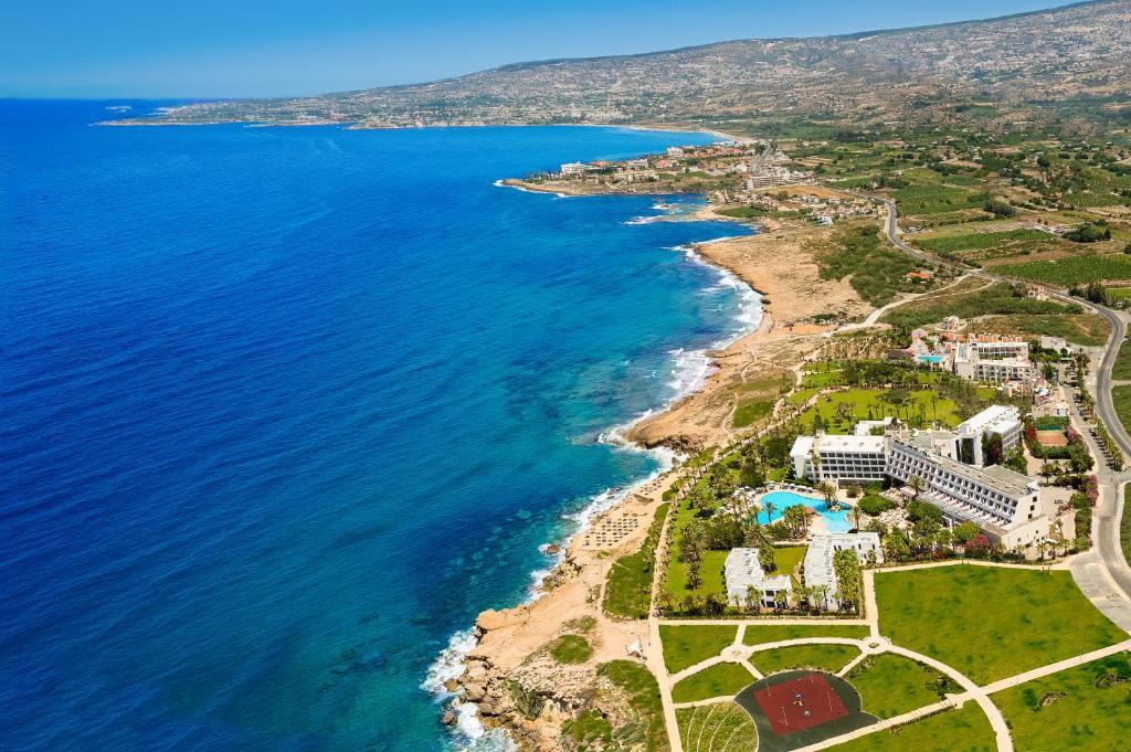 Blick auf Azia Resort & Spa aus der Vogelperspektive