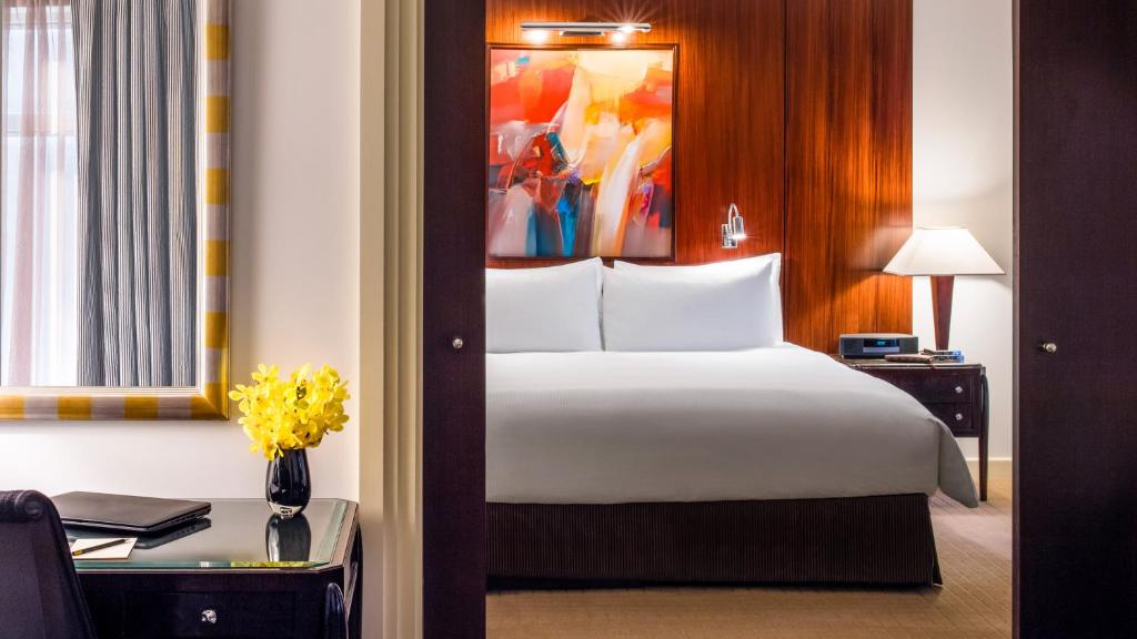 A bed or beds in a room at Sofitel New York