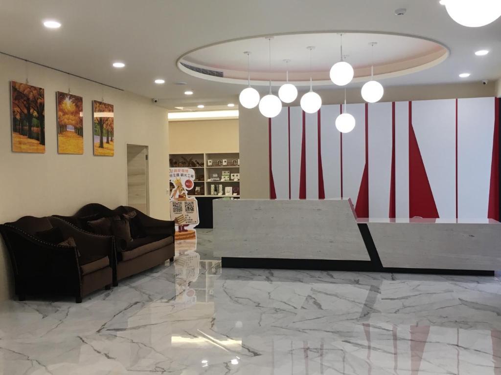 Lobbyn eller receptionsområdet på Red hotel