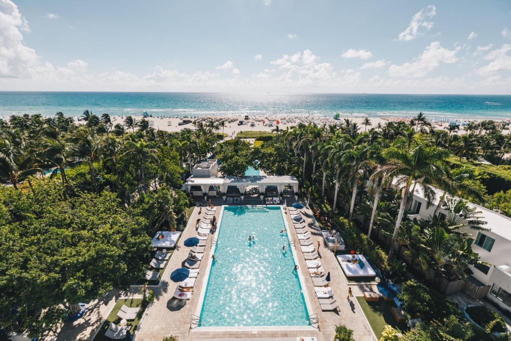 Vaade majutusasutusele Shore Club South Beach linnulennult
