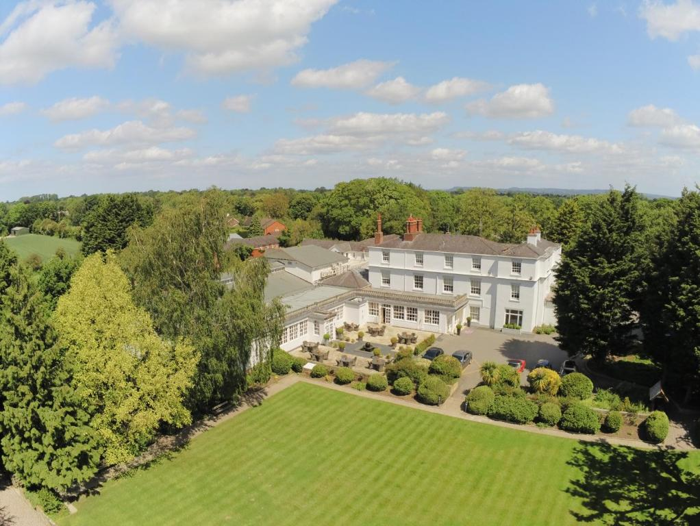 A bird's-eye view of Rowton Hall Hotel and Spa