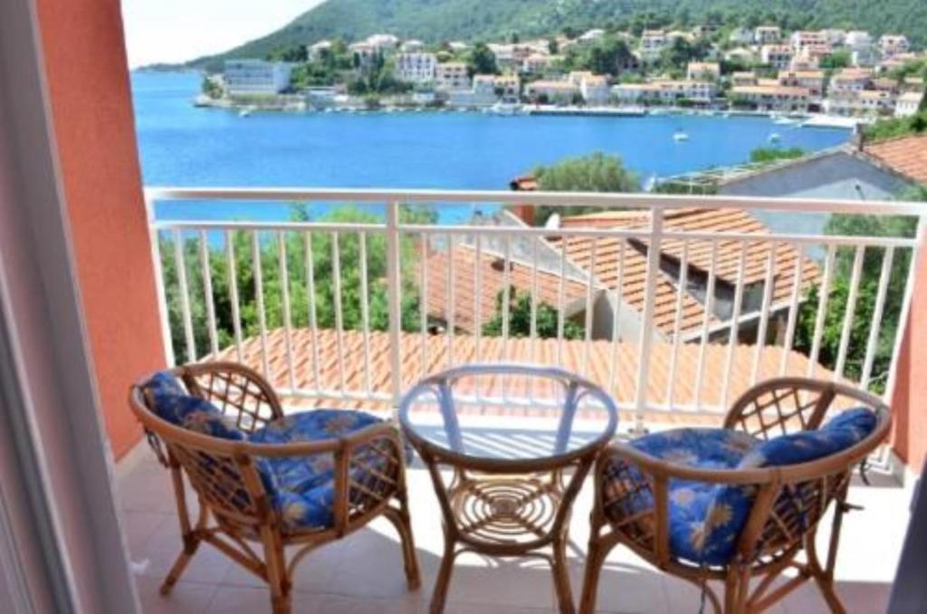 Balkon lub taras w obiekcie Bleus Apartments