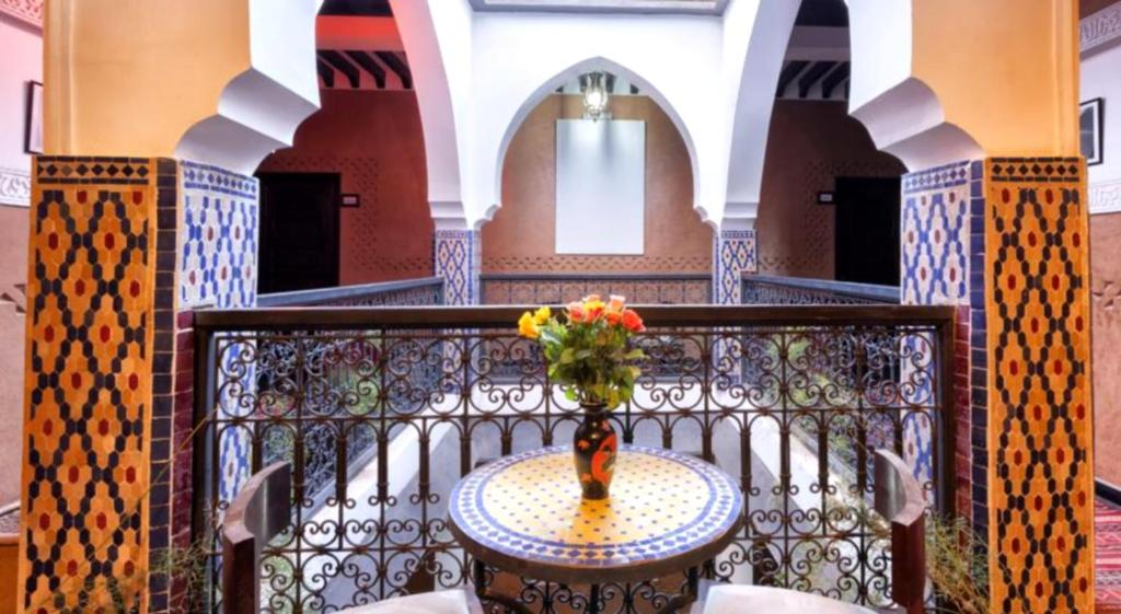 A balcony or terrace at Hotel Azoul
