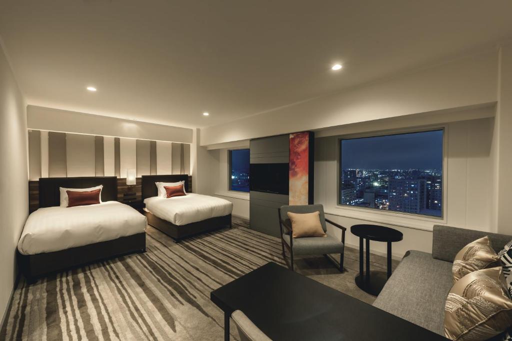ポイント1.輝く夜景と心安らぐ客室