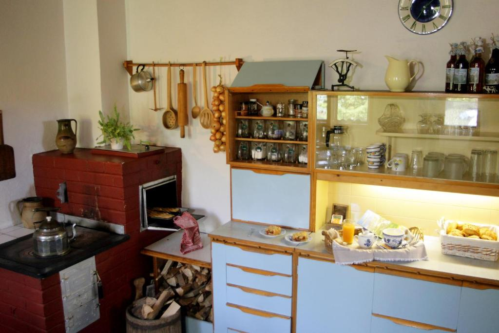A kitchen or kitchenette at Sedliacky Dvor