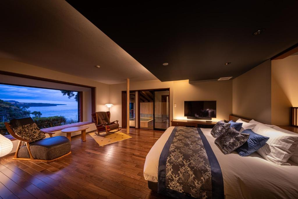 ポイント2.海を眺める露天付き客室
