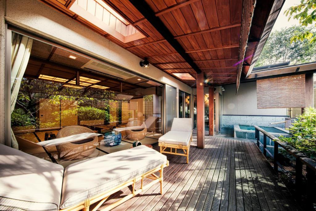 ポイント1.清潔で眺めの良い露天風呂付客室