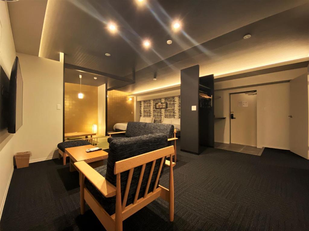 ポイント2.全室30平米以上!キッチン付の客室