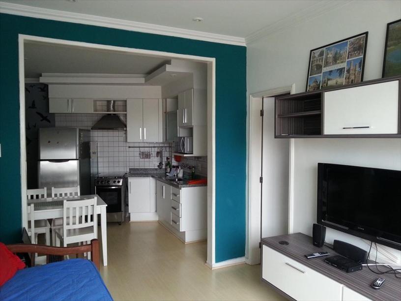 A kitchen or kitchenette at Hostel Ipanema Copa