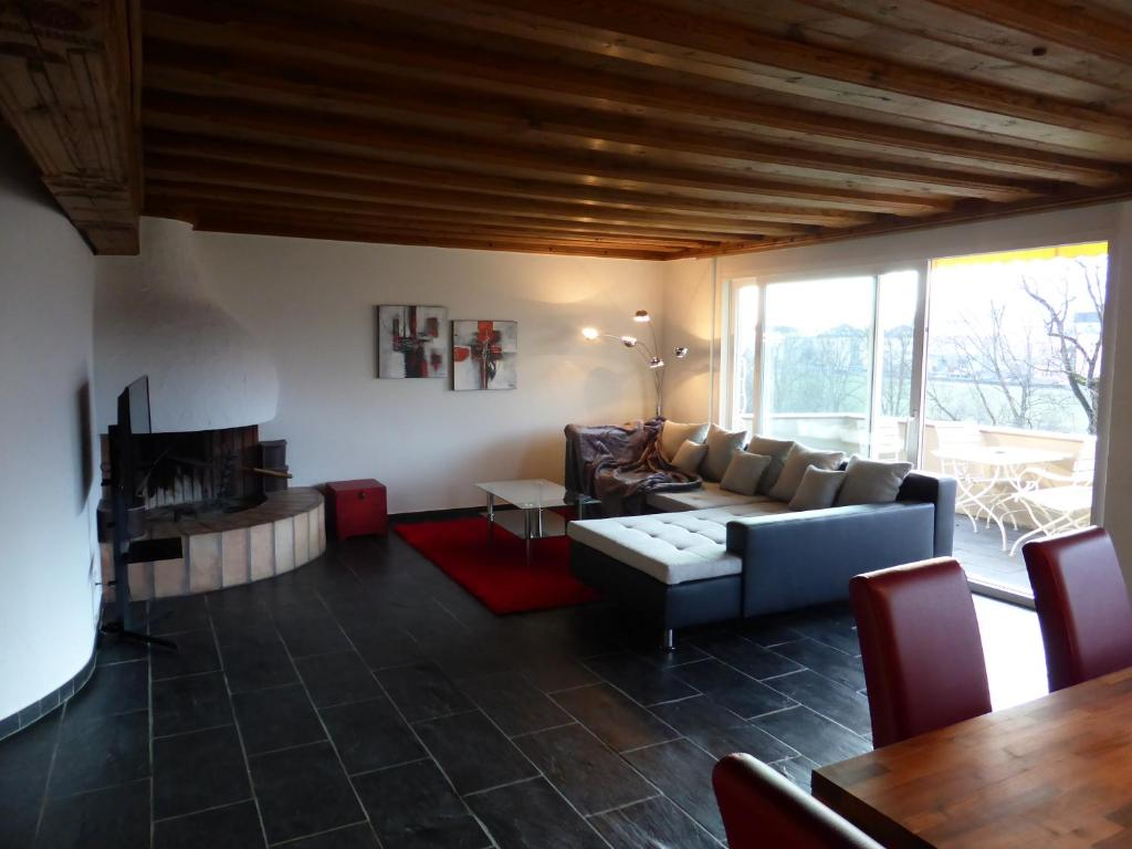 A seating area at Penthouse Apartment in Vaduz