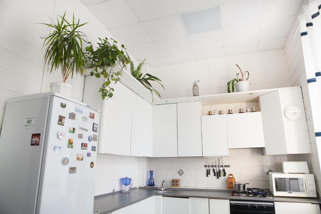 Кухня или мини-кухня в Лайк Хостел